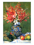 Flowers and Fruit Print by Pierre-August Renoir