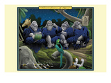 Shrewdness of Apes Print by Richard Kelly