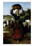 Washerwomen of Fouesnant Affiches par William Adolphe Bouguereau