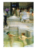 A Favorite Tradition Print by Sir Lawrence Alma-Tadema