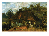 Cottage Prints by Vincent van Gogh