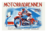 Motorradrennen - Auto Club Berlin Posters by Jason Pierce