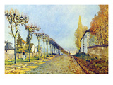 Way of the Machine, at Louveciennes Posters by Alfred Sisley