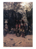 The Return March in the Tuileries Posters par James Tissot