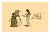 A Piece of Pie of a Game of Hoop Print by Kate Greenaway