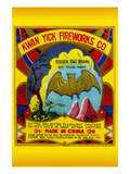 Kwan Yick Fireworks Co. Golden Bat Brand Posters