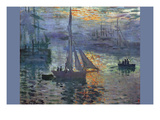 Sunrise at Sea Prints by Claude Monet