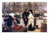 The Captain and His Girl Poster by James Tissot