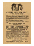 Glenn's Sulphur Soap Is the Leading Remedy Prints