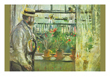 Eugene Manet on the Isle of Wight Print by Berthe Morisot