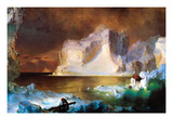 Iceberg Posters by Frederic Edwin Church