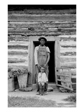 Young Sharecropper and His First Child Premium Giclee Print by Dorothea Lange
