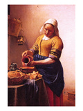 Milk Maid Posters by Johannes Vermeer