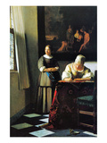 Woman with Messenger Pósters por Johannes Vermeer