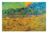 Rising Moon Prints by Vincent van Gogh