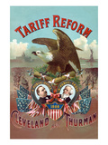 Tariff Reform. Cleveland and Thurman Prints by  S. Nagle & J. Hertgen