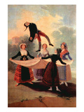 The the Jumping Jack Premium Giclee Print by Francisco de Goya