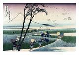 Ejiri in Suruga Province Giclee-tryk i høj kvalitet af Katsushika Hokusai