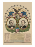 National Democratic Chart 1876: Samuel J. Tilden, President, Thomas A. Hendricks, Vice President Posters by H. H. Lloyd