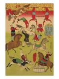 Big French Circus on the Grounds of Shokonsha (Yasukuni) Shrine No.3 Posters by Ando Hiroshige
