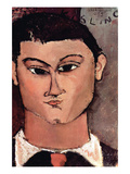 Portrait of Moiise Kiesling Prints by Amedeo Modigliani