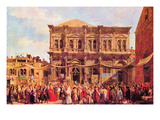 Festival in San Rocco Posters par  Canaletto