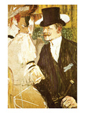 Anglais at Moulin Rouge Posters by Henri de Toulouse-Lautrec