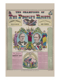 The Champions of the People's Right Print by  Haasis & Lubrecht