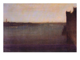 Nocturne in Gray and Gold, Westminster Bridge Posters by James Abbott McNeill Whistler