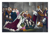 Mary Stuart's Wedding to Henry Darnley Art by W.M. Robertson