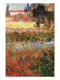 Flowering Garden with Path Posters van Vincent van Gogh