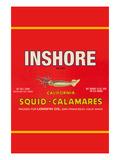 Inshore Brand Squid - Calamares Plakater af Paris Pierce