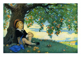 Boy under an Apple Tree Photo by Jesse Willcox Smith