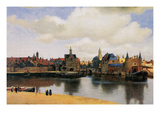 View of Delft Affiches par Johannes Vermeer