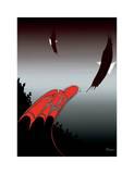 Totem Skyline Giclee Print by Rick Beaver