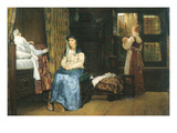 A Birth Chamber, Seventeenth Century Posters by Sir Lawrence Alma-Tadema