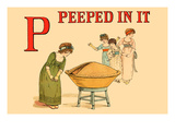 P - Peeped in It Posters by Kate Greenaway
