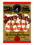 Seven-Thirty Express Blended Whiskey Posters