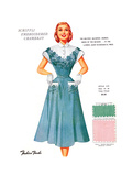 Schiffli Embroidered Chambray Posters by  Fashion Frocks