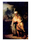 David's Farewell with Jonathan Prints by  Rembrandt van Rijn