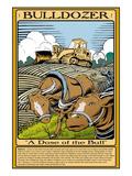 Bulldozer Print by Wilbur Pierce