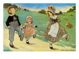 Three Children to London - One Foot Up One Foot Down Premium Giclee Print by Jesse Willcox Smith