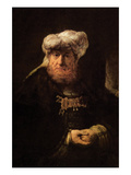 The Leper King Uzziah Art by  Rembrandt van Rijn