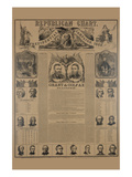 Republican Chart. Presidential Campaign, 1868 Poster by H. H. Lloyd