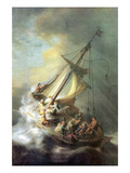Christ in a Storm on the Sea of Galilee Poster von Rembrandt van Rijn