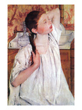 Girl Arranging Her Hair Prints by Mary Cassatt