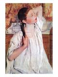 Girl Arranging Her Hair Prints by Mary Cassatt