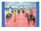 Riding on the Beach Prints by Paul Gauguin