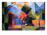 Garden on the Lake of Thun Prints by Auguste Macke