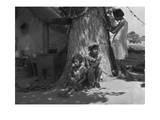 Motherless Migrant Children Premium Giclee Print by Dorothea Lange